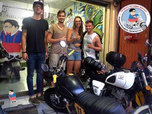 monthly motorbike rental customer in bangkok