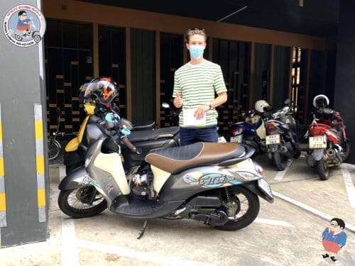 rent a yamaha fino for 2000 baht per month